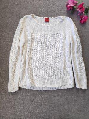 Weißer Pullover Strickpullover Größe 36