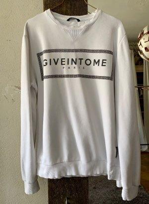 Criminal Damage Oversized Sweater white-black