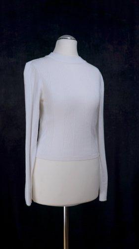 Weißer Pullover von Stradivarius in Gr.S