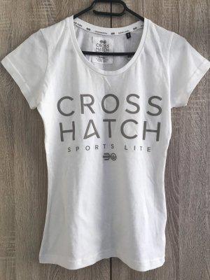 Weißer r T-Shirt Von Cross Hatch