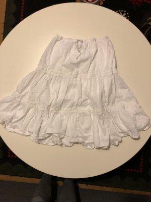 Rainbow Circle Skirt white