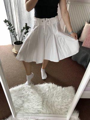 Ann Christine Jupe à plis blanc