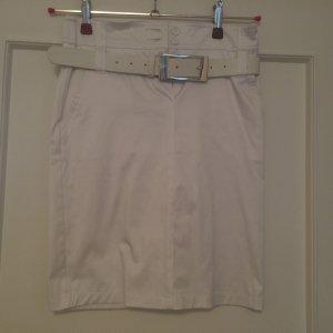0039 Italy Ołówkowa spódnica biały Bawełna
