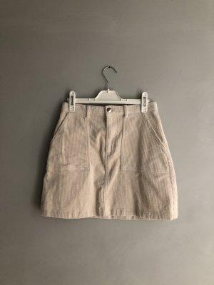 Monki High Waist Skirt natural white