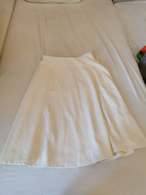H&M Flared Skirt white-cream