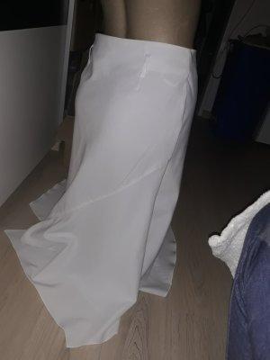 Asymmetry Skirt white