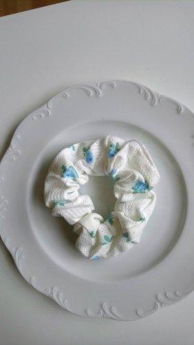 Bandeau cheveux blanc-bleuet