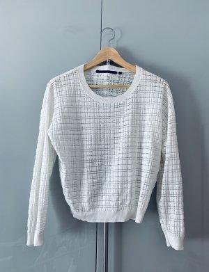 Silvian heach Top en maille crochet blanc