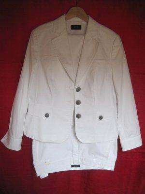 Esprit Trouser Suit white cotton