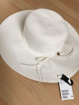 H&M Kapelusz przeciwsłoneczny biały