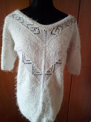 Unikat Maglione lungo bianco