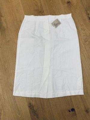 Vintage High Waist Skirt natural white cotton