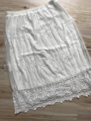 Stradivarius Spódnica midi biały