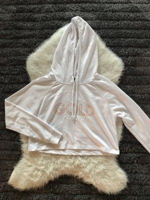 Weißer Spirtlicher Crop Pullover