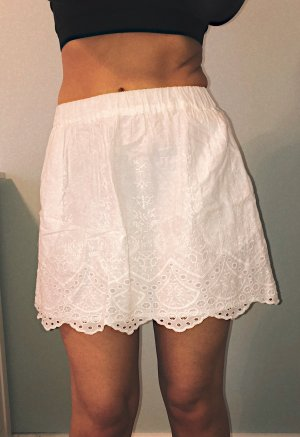 H&M Lace Skirt white