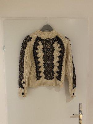 Weißer Strick Pullover von Zara