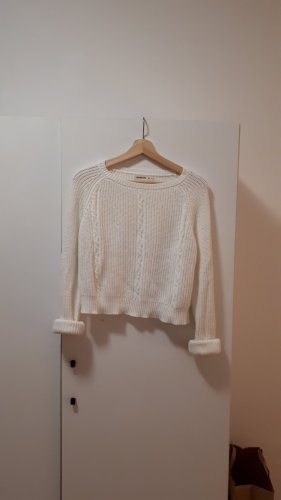 24 colours Pull tricoté blanc