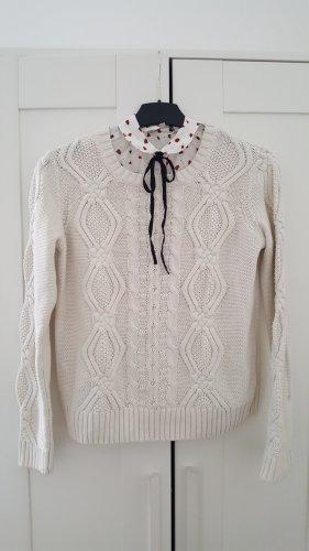 Avant Première Maglione lavorato a maglia bianco