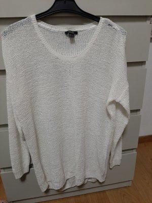 Esmara Jersey de punto grueso blanco