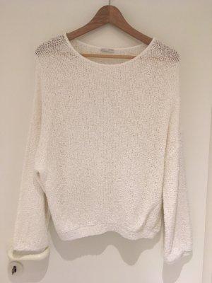 Weißer Strickpullover von Zara in Größe M (38)