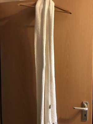 H&M Divided Knitted Scarf white