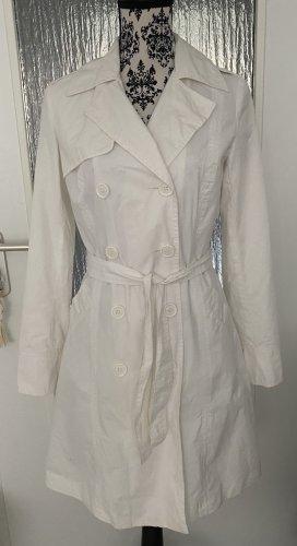 Weißer trenchcoat/mantel