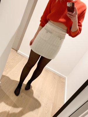 Zara Gonna tweed bianco-argento