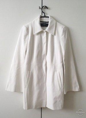 Weißer Übergangsmantel von Zara Gr. 36 Vintage-Look leicht tailliert