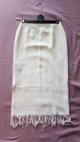 Promod Jupe à franges blanc cassé-blanc