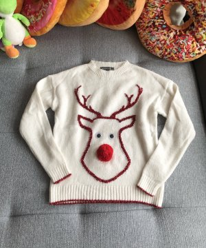 Primark Sudadera navideña blanco-blanco puro