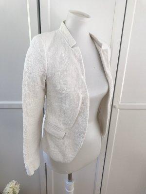 Weißer Zara Blazer mit Stehkragen