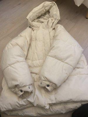 Weißer Zara Daunenmantel