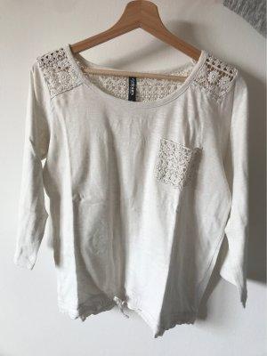 Takko Fashion Gehaakt shirt wit