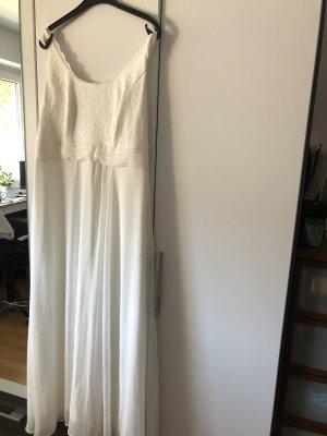 Sheego Vestido línea A blanco