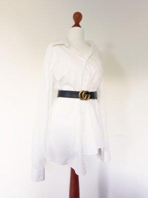 Weißes asymmetrisches Minikleid Hemdkleid Goth Harakuju deconstructed Sommer Blusenkleid