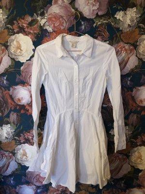 Weißes ausgestelltes Blusenkleid Gr 34, verspielt