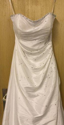 Magic Nights Vestido de baile blanco-color plata