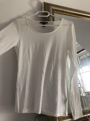 weißes basic langarm Shirt