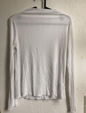 Weisses Basic Langarmshirt
