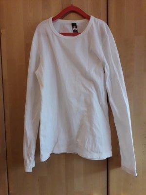 Weißes basic Langarmshirt
