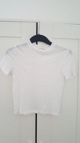 Weißes Basic-Shirt