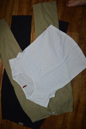 Weisses Basic Shirt Gr. 40 von s. Oliver