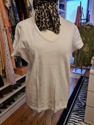 weißes Basic-Shirt Gr.44