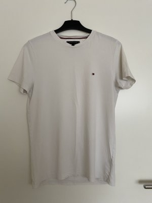 Weißes Basic Tommy T-Shirt
