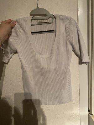 Weißes Bauchfreies t Shirt