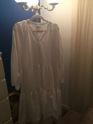 High Low Dress white cotton