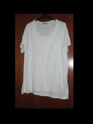 Weißes Baumwollshirt von Janina in Größe 58