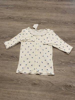 Weißes Blümchen Sweatshirt