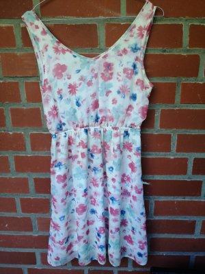 Clockhouse Cut Out Dress light pink-white