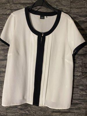 C&A Yessica Top koszulowy biały-ciemnoniebieski